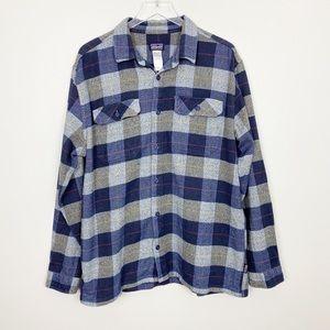PATAGONIA Men's Fjord Flannel Shirt L Blue Gray
